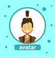 asian man avatar icon korean male in traditional vector image