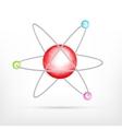 Atom on white vector image