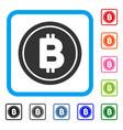 bitcoin coin framed icon vector image vector image