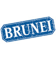 Brunei blue square grunge retro style sign vector image vector image