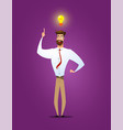 businessman showing he has new idea vector image vector image