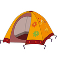 Childrens tourist tent vector image