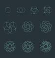 circle contour various sacred geometry set vector image