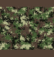digital camouflage pattern seamless vector image