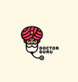 doctor guru logo vector image