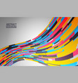 dynamic colorful wave abstract background for web vector image vector image