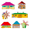 ecological country houses vector image vector image