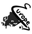 Europe symbol vector image