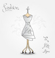 fashion boutique evening dress vintage icon vector image