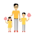 Father with Children Banner Concept vector image