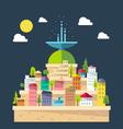flat design fountain city vector image