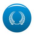 floral wreath icon blue vector image vector image