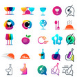 food chef logo collection design icon element vector image vector image