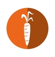 fresh carrot vegetable healthy icon orange circle vector image vector image