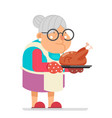 grandmother old mother adult woman with fried vector image