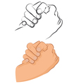 greeting shake vector image