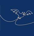 halloween bat silhouette vector image