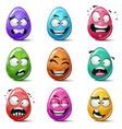happy easter set color egg vector image vector image