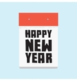 Happy new year calendar vector image