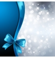Holiday gift cards with blue ribbon vector image vector image