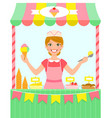 ice cream stall vector image vector image