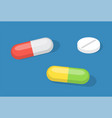 isolated capsules tablets pills healthcare and vector image vector image
