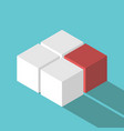 isometric red missing cube vector image vector image