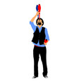 juggler artist clown juggling with pins vector image vector image