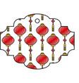 label lantern hang decoration pattern vector image