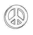 line beauty hippie emblem symbol design vector image vector image