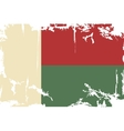 Madagascar grunge flag vector image