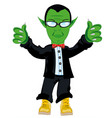 man fairy-tale troll in fashionable suit vector image