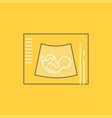 maternity pregnancy sonogram baby ultrasound flat vector image