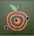 military target in the form of fruit apple vector image