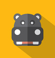 Modern Flat Design Hippopotamus Icon vector image vector image