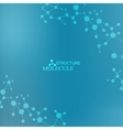 Molecule structure and communication on the blue vector image vector image