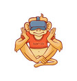 monkey dont see because vector image