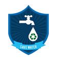 natural water vector image