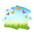 nature spring summer backgrounds vector image