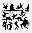 People dance male and female silhouette vector image vector image