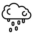 rainy cloud icon outline style vector image vector image