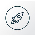 rocket icon line symbol premium quality isolated vector image vector image