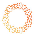 round frame of flowers design vector image vector image