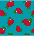 seamless pattern mango on azure background vector image vector image