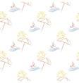seamless with beach umbrella vector image