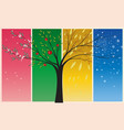 seasons spring summer autumn winter vector image vector image