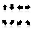 set of black arrows eps 10 vector image vector image