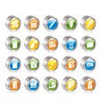 simple office tools icons vector image vector image