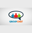 social group people communication logo vector image vector image
