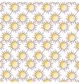 summer sun pattern isolated icon vector image